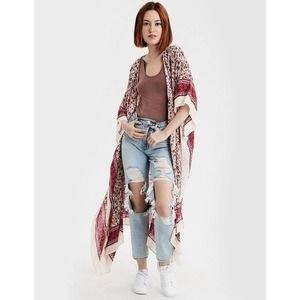 American Eagle Ditsy Kimono/Duster
